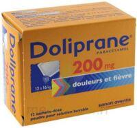 Doliprane 200 Mg Poudre Pour Solution Buvable En Sachet-dose B/12 à BRUGUIERES