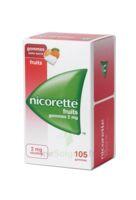 Nicorette 2 Mg Gomme à Mâcher Médicamenteuse Sans Sucre Fruits Plq/105 à BRUGUIERES