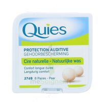 Quies Protection Auditive Cire Naturelle 8 Paires à BRUGUIERES