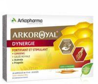Arkoroyal Dynergie Ginseng Gelée Royale Propolis Solution Buvable 20 Ampoules/10ml à BRUGUIERES