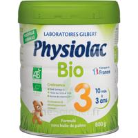 Physiolac Bio Lait 3éme Age 800g à BRUGUIERES