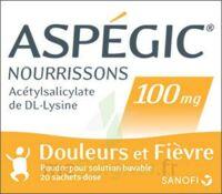 Aspegic Nourrissons 100 Mg, Poudre Pour Solution Buvable En Sachet-dose à BRUGUIERES