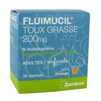 Fluimucil Expectorant Acetylcysteine 200 Mg Sans Sucre, Granulés Pour Solution Buvable En Sachet édulcorés à L'aspartam Et Au Sorbitol à BRUGUIERES