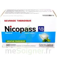 Nicopass 1,5 Mg Pastille Sans Sucre Menthe Fraîcheur Plq/96 à BRUGUIERES