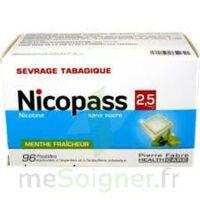 Nicopass 2,5 Mg Pastille Menthe Fraîcheur Sans Sucre Plq/96 à BRUGUIERES