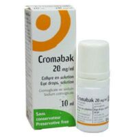 Cromabak 20 Mg/ml, Collyre En Solution à BRUGUIERES