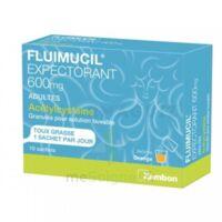 Fluimucil Expectorant Acetylcysteine 600 Mg Glé S Buv Adultes 10sach à BRUGUIERES